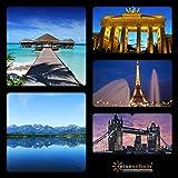 Schein da viaggio buono regalo 4giorni nel mondo viaggi vacanze in un di 1700Hotel in oltre 40paesi kurzreise - Reiseschein - amazon.it