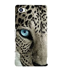 FUSON Blue Eye Leopard Face 3D Hard Polycarbonate Designer Back Case Cover for Sony Xperia Z5 Compact :: Sony Xperia Z5 Mini