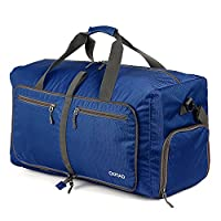 OUTAD Duffle Bag For Travel Luggage Gym Sport Camping - Lightweight Foldable Into Itself 50L (Blue)