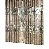 Stricken Polyester Vorhang Wohnzimmer Sonnenschutz- Drape Jacquard Baum Strape Muster Fenster Tüll Mengonee