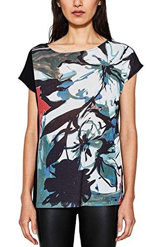 ESPRIT Collection Damen T-Shirt Schwarz (Black 001)