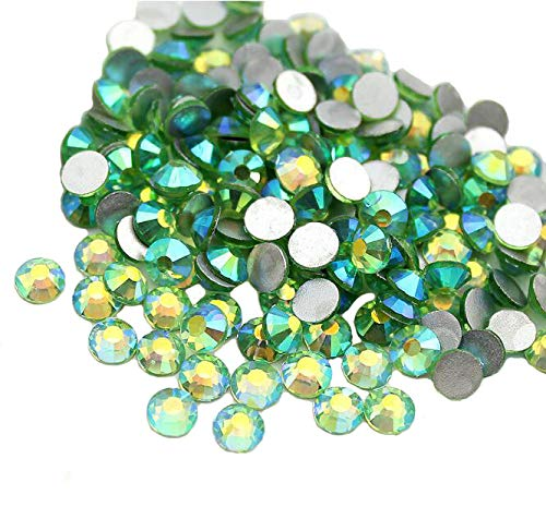 Jollin Glue Fix Crystal AB FlatBack Rhinestones (ss20 576pcs, Light-green AB) by Jollin (Strass Ab Green)