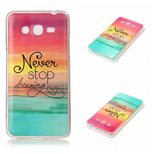 Qiaogle Téléphone Coque - Soft TPU Silicone Housse Coque Etui Case Cover pour Apple iPhone 7 (4.7 Pouce) - YH29 / Marbre YH16 / Never Stop Dreaming