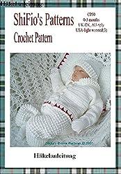 Häkelanleitung  - CP50 -  Babyjacke, Mütze, Hose, Kissen und Decke: Design