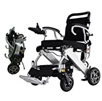 Bangeran Electric Wheelchair-Lightweight 50 lbs Heavy Duty Supports 330 lbs Aluminum Alloy Frame Foldable Wheelchair Electric Power Propelled Portable Lifetime Quality Insurance
