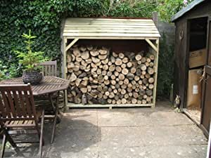 Wooden Log Store - By Touch Wood - Treated Timber