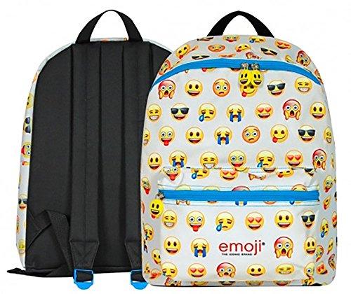 fe53e1767f Perletti 13624 - Zaino con tasca frontale Emoji, 40x30x18cm