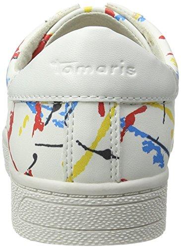 Tamaris 23622, Baskets Basses Femme Blanc (GRAFFITI MULTI 126)