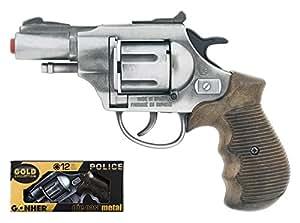 Gonher Police Revolver 12 Shots, Multi Color