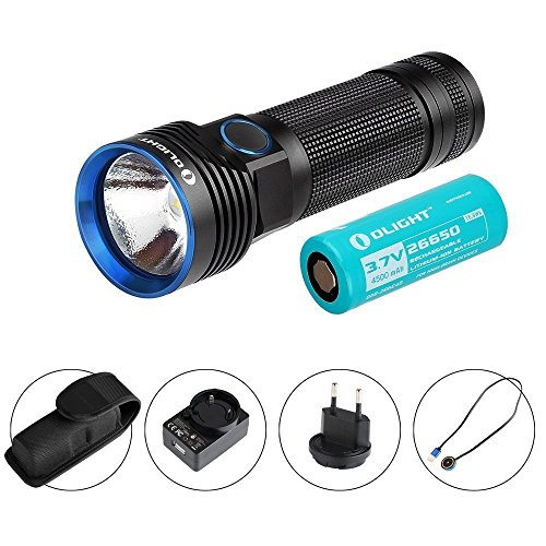 Olight® R50 Pro/Pro LE Seeker linterna máx. 3200 lúmenes con el Cree XHP70 CW LED - recargable a través de cargador USB magnética