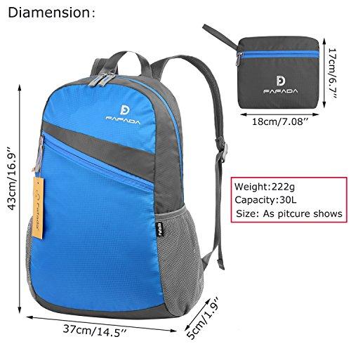 Imagen de fafada 30l  ultra ligera plegable bolsa de viaje,ideal para alpinismo escalada marcha viaje trekking camping deporte al aire libre azul alternativa