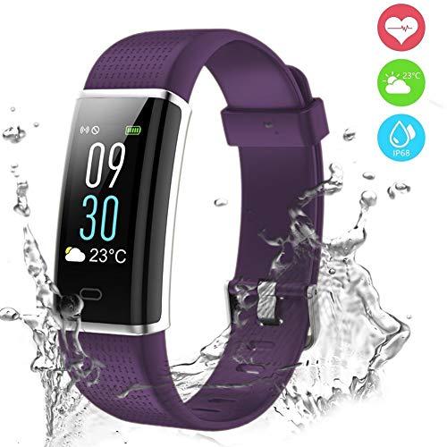 Pulsera Actividad,Pulsera Inteligente Pantalla Color Fitness Tracker con Cardíaco Monitor Reloj Inteligente...