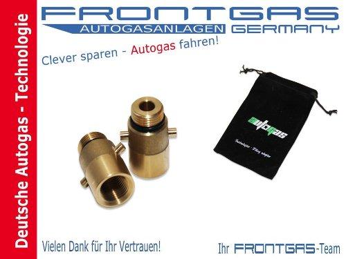 TANK Adattatore + Adattatore tasche a baionetta M21Versione Corta/LPG/Auto Gas