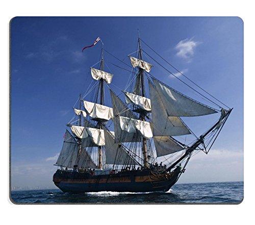 MSD-Tappetino per mouse in gomma naturale, gioco foto ID: 3777387 Tall Ship di sail con shore sullo sfondo
