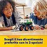 LEGO-Creator-3in1-Il-Monster-Truck-degli-Hamburger-con-3-Opzioni-Monster-Truck-Fuoristrada-o-Trattore-con-2-Minifigure-Set-di-Costruzioni-per-Bambini-8-Anni-31104