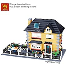 Wange branded villa house playset / family home friends city creator #34051