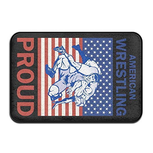ncnhdnh Door Mat Indoor Doormat American Wrestling Proud Wrestler Front Door Mats Rug Personalized Mat for Bathroom Kitchen Bedroom Entryway Floor Mats,Non-Slip Rubber,15.7