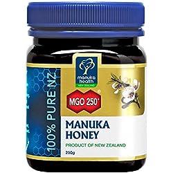 Manuka Health - Manuka Honig MGO 250 + 250g - 100% Pur aus Neuseeland mit zertifiziertem Methylglyoxal Gehalt
