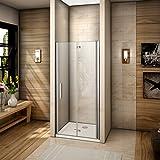 90x185cm Mamparas de ducha Pantalla baño plegable puerta de ducha Aica