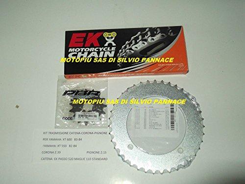 Kit transmission catena-corona-pignone pour Yamaha XT 600 83 - 84 XT 550 82 - 84