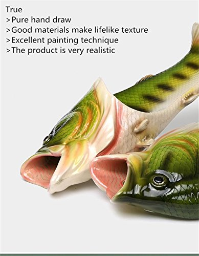 UniqStore Sandalen Tricky Fisch Hausschuhe Kreative Fisch Stil Strand Schuhe Simulation Fisch Strand Hausschuhe Herren - 8