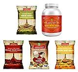#10: Waghmare Bhiwapuri Mirchi, Varhadi Masala, Waigaon Haldi, Dhaniya Powder, 1100 grams (Combo of 4) (1 Chatpat Magic Masala Bottle Free)
