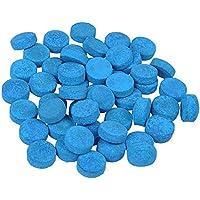 Gobesty Puntas de Taco, 50 Piezas Puntas de Taco de Billar Pegamento de 10 mm en la Piscina Puntas de Taco de Billar para Piscina con Caja de Almacenamiento, Azul