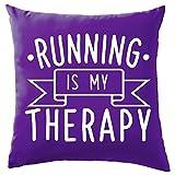 """Running is my terapia cuscino–41x 41cm (40,6cm)–9colori, 100% Cotone, Mauve, 41 x 41cm (16"""")"""