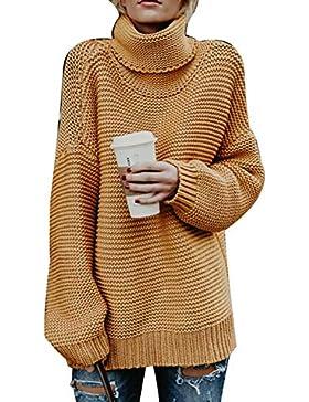 Vepodrau Jerséis Manga Larga De Mujer Casual Cuello Alto Pullover Sweater