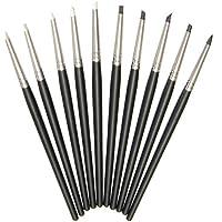 Bazaar 10Teile Ton-Die Feder Gummi Weich Silikon Polymer Clay Modelliermasse der Skulptur Ton Werkzeuge Handwerk 15cm