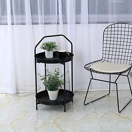 Vier Räder Tragbarer Werkzeugaufbewahrung Warenkor Regal, schmiedeeisen fach rack mode langlebig stilvolle schöne wohnzimmer sofa küche balkon restaurant tragbares regal, 2 farben, 45X77 CM Mehrzweckw -