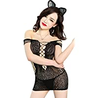 Sexy Petite completely see throught fishnet dress in black, to fit UK4-12