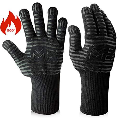 Maison Exquisite Grillhandschuhe Ofenhandschuhe hitzebeständig bis 800 ° C Grill BBQ Backhandschuhe mit Unterarmschutz 1 Paar - Silikon-grillen-handschuhe