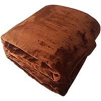 Cálida manta de franela suave mullido sofa cama invierno tiro por viaje, 100% poliéster microfibra, resistente a las arrugas, anti - Fade, 150 cm x 200 cm, marrón