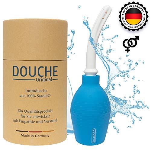 louaneo Douche Original Intimdusche, Analdusche, Klistier, Anal-Spülung. Aus 100% Sarolit. Hergestellt in Deutschland. 347ml. Verpackung und Zubehör aus nachwachsenden