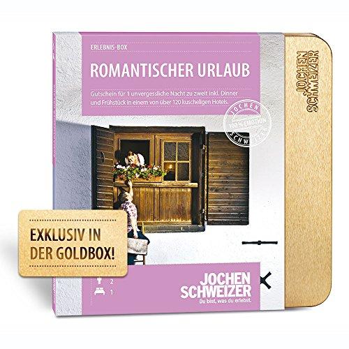 Jochen Schweizer Hotelgutschein ROMANTISCHER URLAUB für 2 | 1 ÜN für 2 Personen | inkl. Gutschein für Frühstück und Abendessen |110 Hotels vorwiegend 4**** | inkl. Geschenkbox