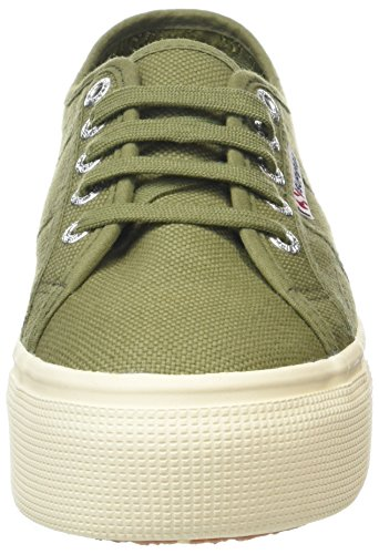 Superga 2790 Acotw Linea Up and Down, Baskets Femme, Noir Green (Green Capulet)