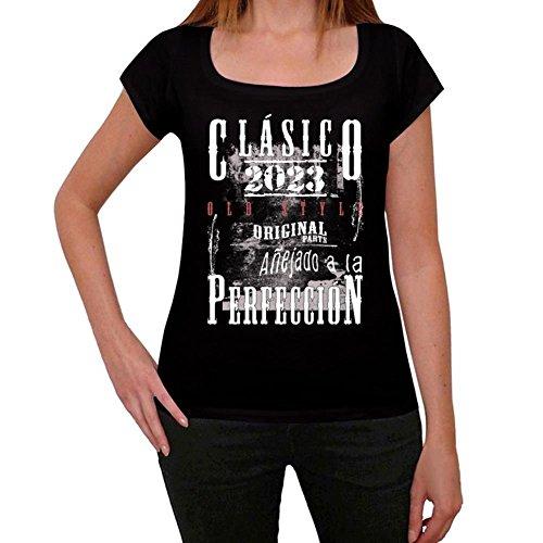 2023, vintage tshirt damen, geschenke für frauen, geschenke tshirt Schwarz