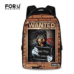 FOR U DESIGNS Bad Boys Girls Creative Animal School Backpack Bookbag for Teens