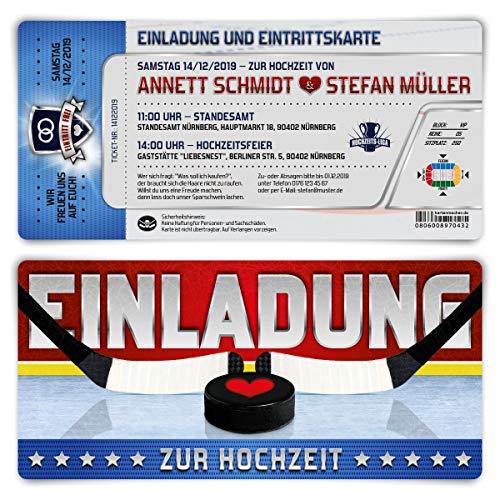 ungen individuelle Einladungskarten Hochzeit Tickets Eintrittskarten - Eishockey ()