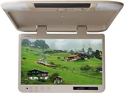 22 Zoll Auto Flip Down Monitor HDMI 1080P HD TFT LCD Dachmontage Monitor Ultra Thin Overhead MP5 Player f/ür Auto SD MP3 MP4 LED mit FM Transmitter USB,Gray