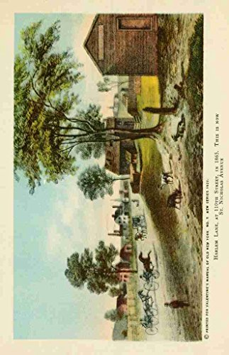 Lane Old Print (A4 Photo Valentines manual of old New York 1919 Harlem Lane Print Poster)