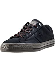 Converse Star Player Premium Leather Ox Hombre Zapatillas Negro