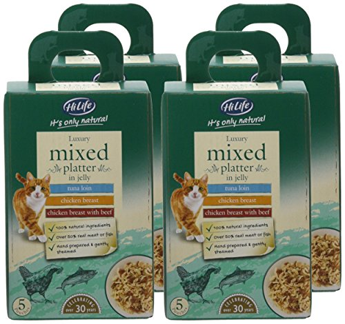 HiLife It's Only Natural Luxury Cat Food Mixed Platter in Jelly, 20 x 50g Pouches 2