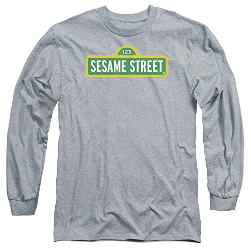 Sesame Street -  Maglia a manica lunga  - Uomo Athletic Heather