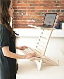Humbleworks Stan1 | Height adjustable STANDING DESK for LAPTOP users | 100% premium plywood | SIT-STAND DESK convertor | Made in Britain