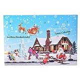 MJARTORIA Damen Schmuck Kalender Adventskalender Adventszeit mit 24 Überraschungen Kette Ohrringe Armband Weihnachten Geschenk