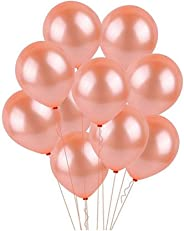 GrandShop 50848 Metallic Balloons Rose Gold Color (Pack of 50)
