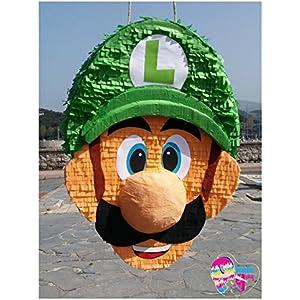 Pinata Luigi. Pinata Super Mario (Ent) (Optionaler Stick)