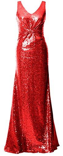 MACloth - Robe - Trapèze - Sans Manche - Femme red